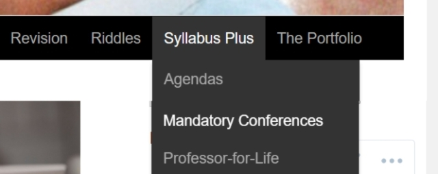 Conferences in the Menu